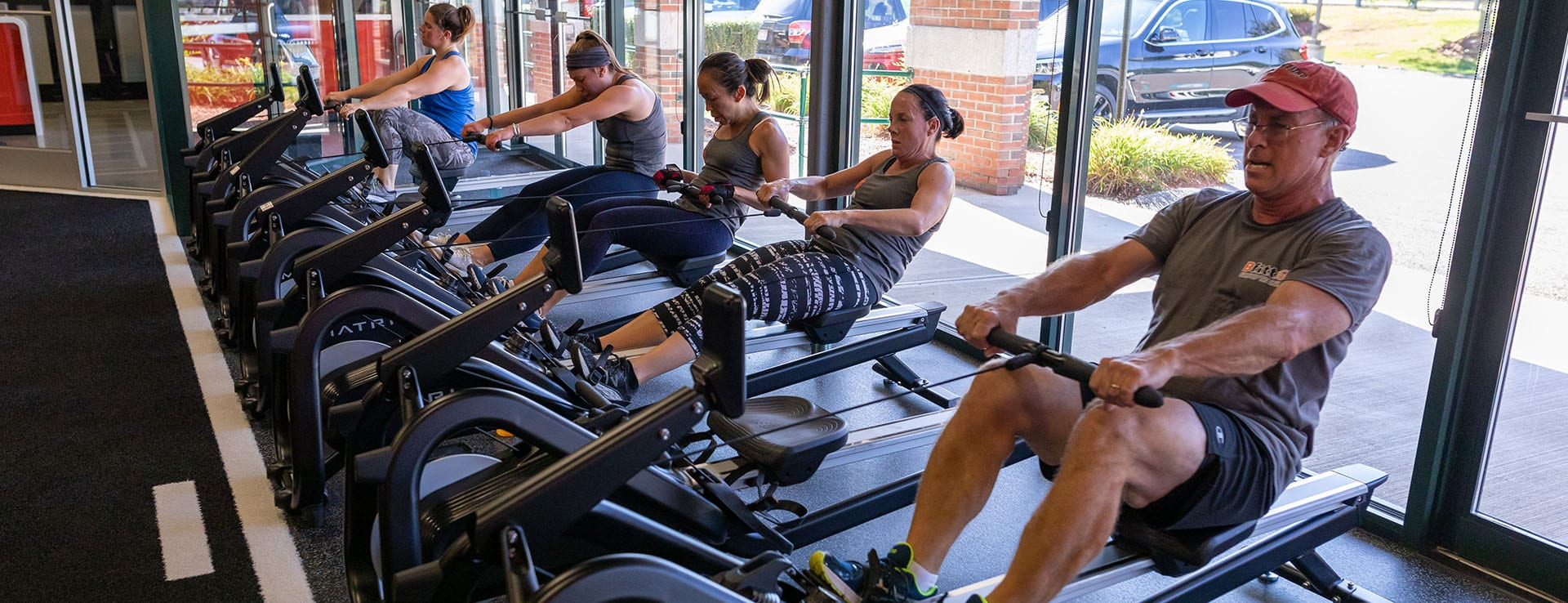 fitness studio clients in gym near me